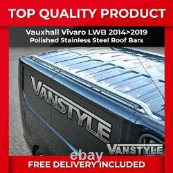 Vauxhall Vivaro Lwb 1419 Roof Rails Roof Bars Stainless Steel Chrome Opel Rack