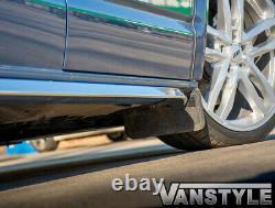Vw T6/t6.1 Transporter Swb 15sportline Angled Sidebar Polished Stainless Chrome