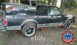 1982-1993 Chevy S-10 Pickup Tablette À Roulettes Longue Cabine 10pc 4 3/4