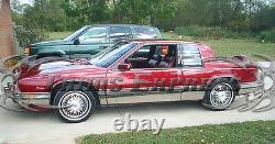 1986-1991 Cadillac Eldorado Chrome Rocker Panel Trim Côté Du Corps Fl 8.5 10pc