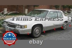 1989-1990 Cadillac Deville 2dr Coupe Chrome Rocker Panel Trim 7 10pc Fl