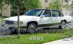 1991-1993 Cadillac Deville 4dr Sedan Rocker Panel Trim Molding Fl 12pc 5 3/4