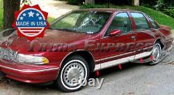 1991-1996 Chevy Caprice Rocker Tablette En Acier Inoxydable Moulage Latéral Bw 5 1/2 8pc