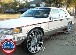 1995-1997 Lincoln Town Car Sedan Chrome Rocker Panel Molding Trim 8 Fl 12pc