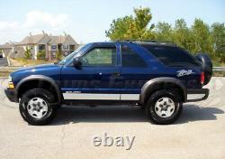 1995-2005 Chevy Blazer 2dr Rocker Panel Trim Body Side Molding 5 3/4 6pc