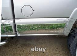 1999-2006 Chevy Silverado 4dr Extended Cab Long Bed Rocker Panel Trim 6 Avec Flare