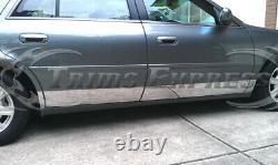 2000-2005 Cadillac Deville/2006-2011 Dts Stainless Rocker Panel Trim 10pc 6