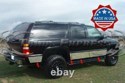 2000-2006 Chevy Suburban Avecflare Rocker Panel Trim Stainless Steel 8 7/8 8pc