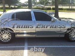 2000-2011 Lincoln Town Car L Longer Modèle Rocker Panneau De Moulage Trim 9 8pc Bw