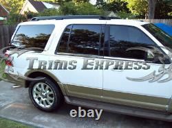 2003-2006 Ford Expédition Avec Clavier Cutout 6pc Chrome Fenêtre Sill Accent