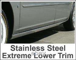 2006-2011 Cadillac Dts Chrome Rocker Panel Trim Extreme Lower Overlay 2pc 2 1/2