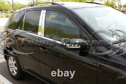 2006-2011 Ml350 Ml550 Pilier 10pc Post+window Sill Trim Combo W164 Inoxydable