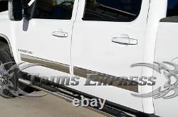 2007-2013 Gmc Sierra Crew Cab Body Side Molding Trim Overlay Cover 4.25