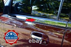 2007-2017 Ford Expédition Avec Clavier Cutout 6pc Chrome Fenêtre Sill Accent