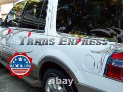 2007-2017 Ford Expédition El Avec Clavier Cutout 6pc Chrome Fenêtre Sill Accent
