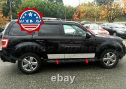 2008-2012 Ford Escape Rocker Panneau Trim Door Cover Molding 6 4pc