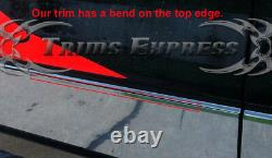 2009-2014 Ford F-150 Crew Cab Chrome Rocker Panneau De Garniture 12pc 7 En Acier Inoxydable