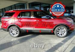 2011-2019 Ford Explorer Rocker Panel Trim Body Side Molding Door Cover 4 6pc