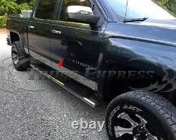 2014-2018 Chevy Silverado Équipage Cab 6.8' Lit Court Panneau De Rocker Trim 5,5 12pc