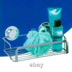 2 X Bâton En Acier Inoxydable N Serrure Chrome Shower Rack Caddy Bathroom Shower Basket