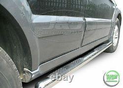 3 Barres Latérales Chrome Paire De Marches Latérales En Acier Inoxydable Pour Kia Sorento Mk1 2002-09
