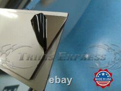 99-02 Chevy Silverado Crew Cab Short Bed Chrome Body Side Molding Trim Superposition