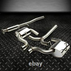 Acier Inoxydable Cat Back Exhaust 3 Tip Muffler 02-03 Mini Cooper/s Hatch Mk1