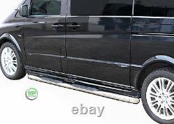Barres Latérales Chrome Barres Latérales En Acier Inoxydable Pour Mercedes Vito W639 Swb 2005-13