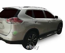 Barres Latérales Chrome En Acier Inoxydable Paire De Marches Latérales Pour Nissan X-trail T32 2014-up
