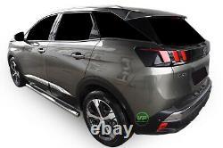 Barres Latérales Chrome Étapes Latérales En Acier Inoxydable Pour Peugeot 3008 2017-up
