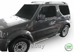 Barres Latérales Chrome Étapes Latérales En Acier Inoxydable Pour Suzuki Jimny 1998-2018 3door