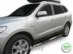 Barres Latérales Chrome Marches Latérales En Acier Inoxydable Pour Hyundai Santa Fe Mk2 2006-12