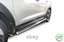 Barres Latérales Chrome Marches Latérales En Acier Inoxydable Pour Hyundai Tucson 2015-9/2020