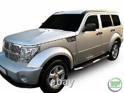 Barres Latérales Chrome Paire De Marches Latérales En Acier Inoxydable Pour Dodge Nitro 2007-2012