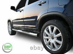 Barres Latérales Chrome Paire De Marches Latérales En Acier Inoxydable Pour Honda Cr-v Mk2 2001-2006