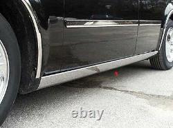 Chrome Rocker Panel Trim 4pcs Qaa Acier Inoxydable Pour Chrysler 300 2005-2010