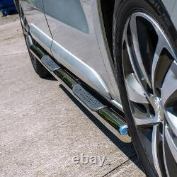 Citroen Dispatch 16 L2 Mwb L3 Lwb Poli Chrome Stainless Side Bar Steps Step