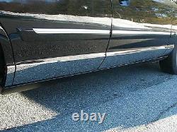 Convient À Mercury Grand Marquis 1992-2011 Stainless Steel Chrome Rocker Panel 8pcs