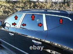 Convient À Nissan Murano 2004-2008 Poli Stainless Chrome Window Package 12pcs