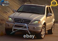 Convient Mercedes ML W163 Chrome Nudge Push A-bar Taureau En Acier Inoxydable 1998-2005 Nx1