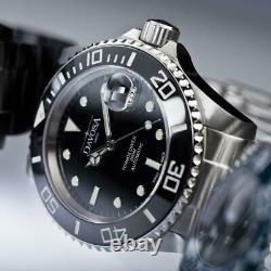 Davosa Automatic Stainless Steel Black Face Ternos Montre-bracelet En Céramique
