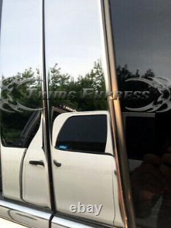 Fit09-2018 Dodge Ram Crew Cab Pillar Post+window Sill Trim Combo 8pc Inoxydable