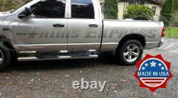 Fit2002-2008 Dodge Ram Quad Cab Courte Rocker Panneau De Garniture 8 En Acier Inoxydable
