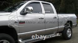 Fit2002-2008 Dodge Ram Quad/crew Cab Short Bed Rocker Panel Trim 7 12pc