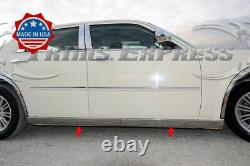Fit2005-2010 Chrysler 300 300c Extreme Lower Body Side Molding Trim 4pc