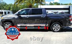 Fit2007-2019 Toyota Tundra Crew Max Cab 5.8' Short Bed Rocker Panel Trim 8 8pc