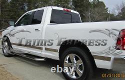 Fit2009-2018 Dodge Ram Quad Cab 6.4' Short Bed N/f Rocker Panel Trim 12pc U