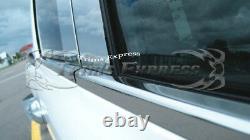 Fit2009-2018 Dodge Ram Quad Cab Chrome Pillar Post+window Sill Trim Combo 8pc
