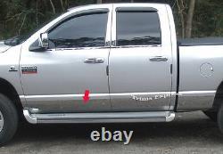 Fit 2002-2008 Dodge Ram Quad/cabine De Crew Doublement Longue Table De Rocker Trim 6 12pc
