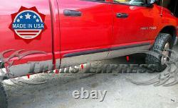 Fit 2002-2008 Dodge Ram Quad/crew Cab Short Bed Rocker Panel Trim Cover 6 12pc